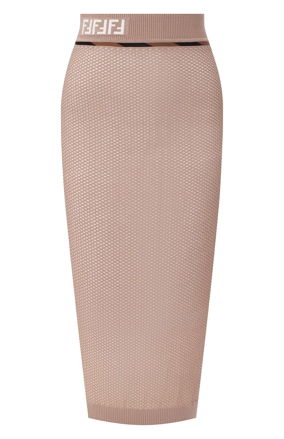 Женская юбка FENDI бежевого цвета, арт. FZQ599 AAVH   Фото 1