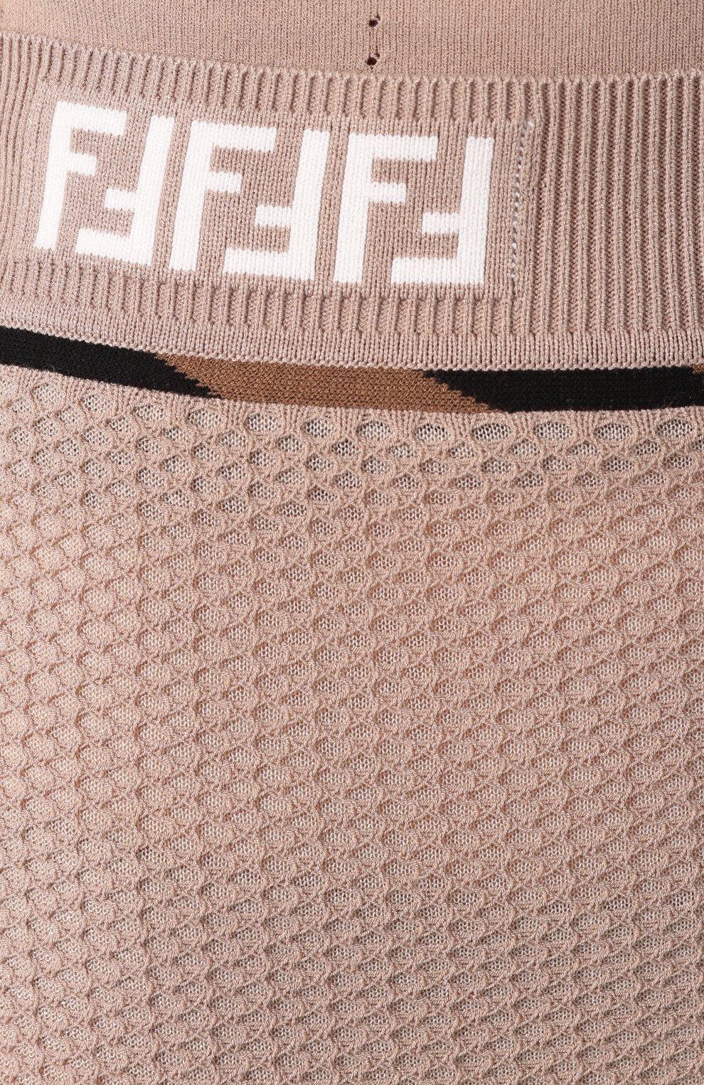 Женская юбка FENDI бежевого цвета, арт. FZQ599 AAVH   Фото 5