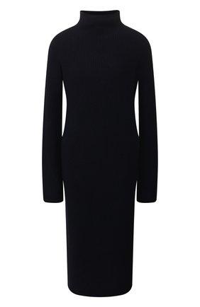 Женское платье из смеси шерсти и кашемира THE ROW темно-синего цвета, арт. 3687Y184 | Фото 1
