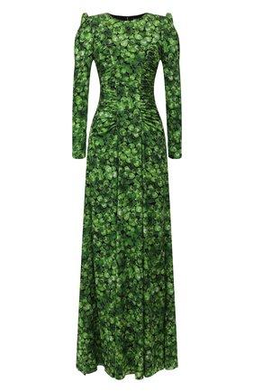 Женское шелковое платье DOLCE & GABBANA зеленого цвета, арт. F6H2LT/FSAZP | Фото 1