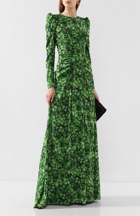 Женское шелковое платье DOLCE & GABBANA зеленого цвета, арт. F6H2LT/FSAZP | Фото 2