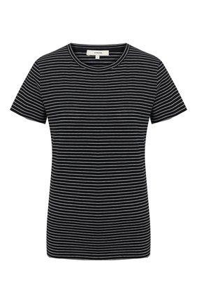 Женская хлопковая футболка VINCE черного цвета, арт. V647083463 | Фото 1