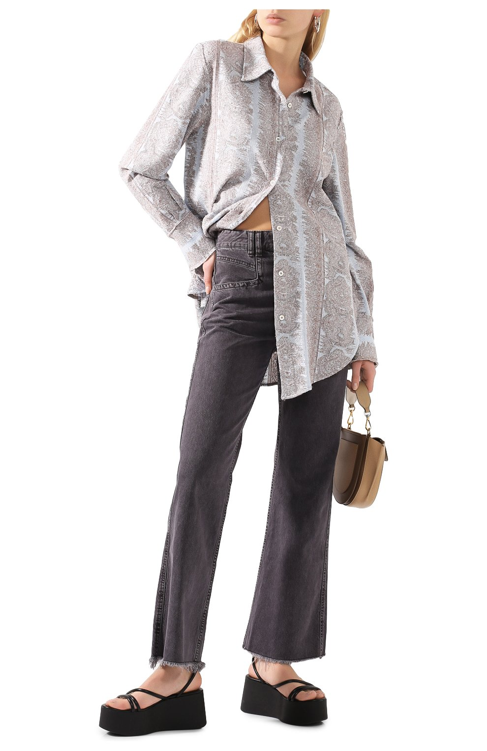 Женские джинсы ISABEL MARANT темно-серого цвета, арт. PA1649-20E010I/ELVIRA | Фото 2