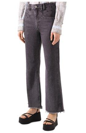 Женские джинсы ISABEL MARANT темно-серого цвета, арт. PA1649-20E010I/ELVIRA | Фото 3