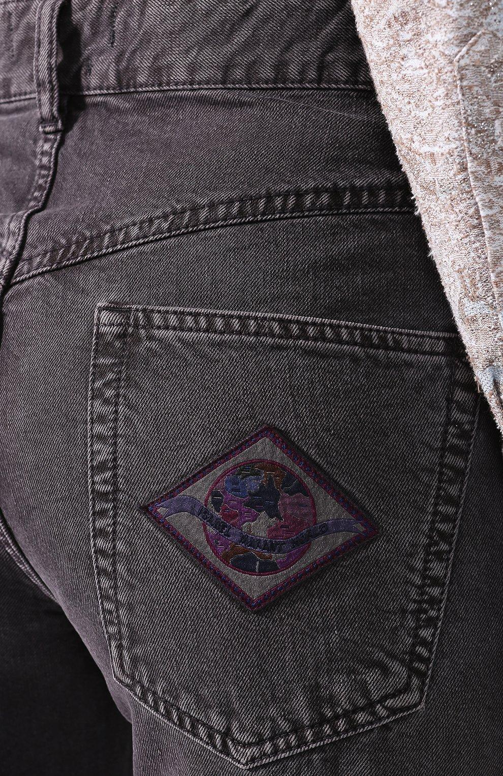 Женские джинсы ISABEL MARANT темно-серого цвета, арт. PA1649-20E010I/ELVIRA | Фото 5