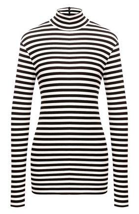 Женская водолазка из вискозы BURBERRY черно-белого цвета, арт. 4564514 | Фото 1