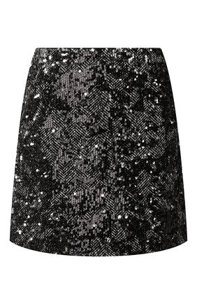 Женская юбка с пайетками MICHAEL MICHAEL KORS черного цвета, арт. MH97F2XD0Z   Фото 1