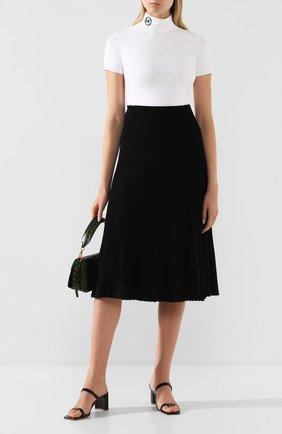 Женская юбка из вискозы MICHAEL MICHAEL KORS черного цвета, арт. MH97F32BFD   Фото 2