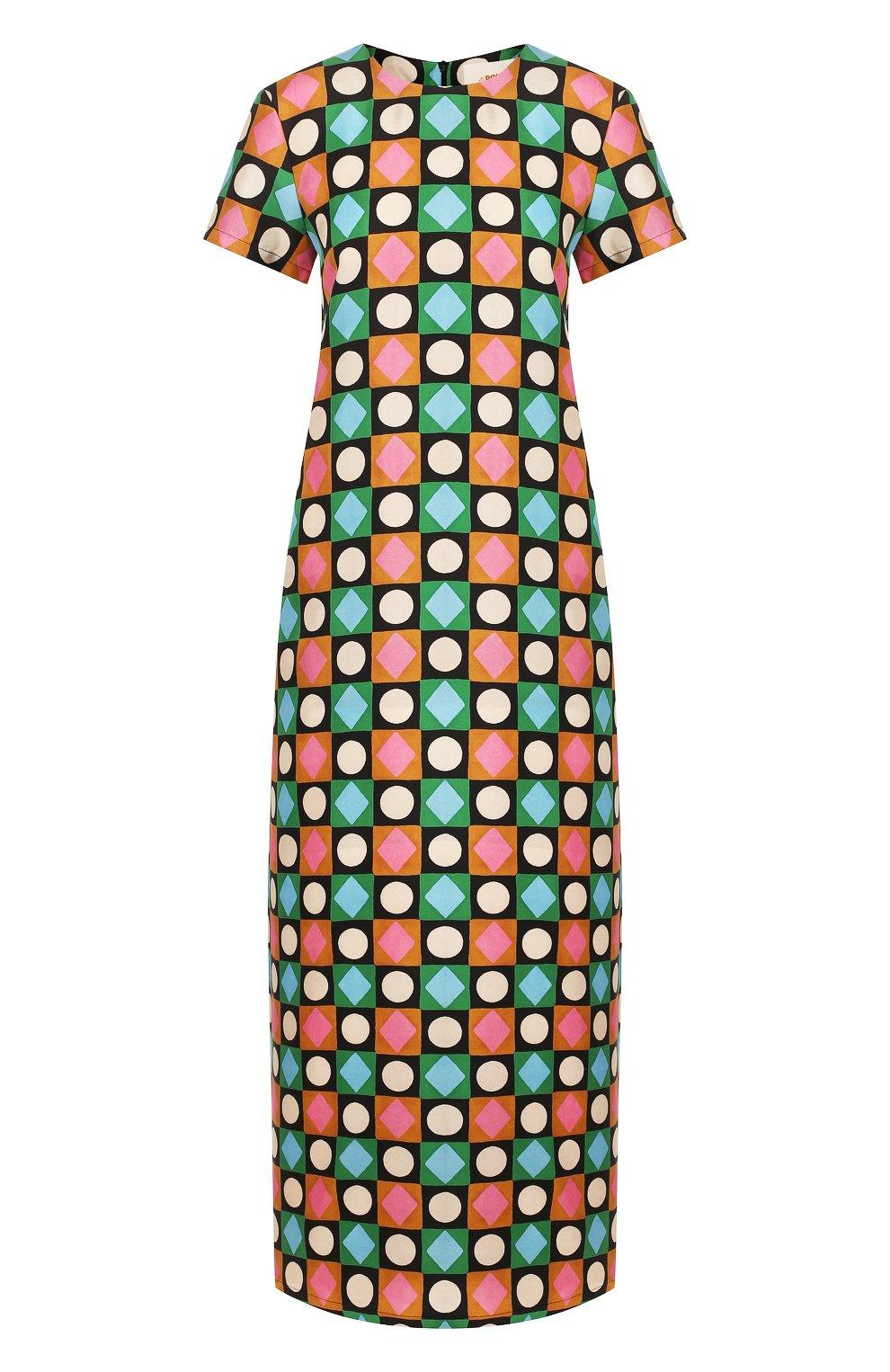 Женское шелковое платье LA DOUBLEJ разноцветного цвета, арт. DRE0001-SIL001-CHA0001_ED20 | Фото 1