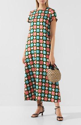 Женское шелковое платье LA DOUBLEJ разноцветного цвета, арт. DRE0001-SIL001-CHA0001_ED20 | Фото 2
