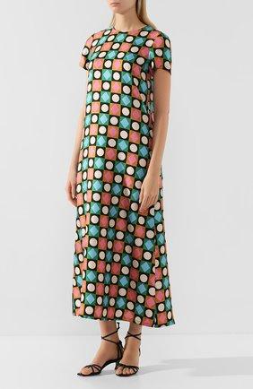Женское шелковое платье LA DOUBLEJ разноцветного цвета, арт. DRE0001-SIL001-CHA0001_ED20 | Фото 3