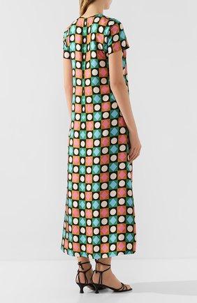 Женское шелковое платье LA DOUBLEJ разноцветного цвета, арт. DRE0001-SIL001-CHA0001_ED20 | Фото 4