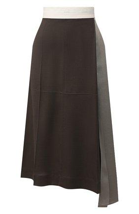 Женская юбка из вискозы PETER DO серого цвета, арт. PD-SS20-213/VI010-ASH/TA009-SAG | Фото 1