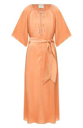 Женское шелковое платье FORTE_FORTE оранжевого цвета, арт. 7284 | Фото 1