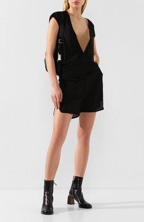 Женские шорты из вискозы RICK OWENS черного цвета, арт. R020S1323/JJ   Фото 2