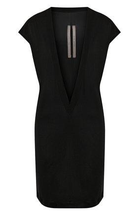 Женская футболка из вискозы RICK OWENS черного цвета, арт. R020S1250/JJ   Фото 1