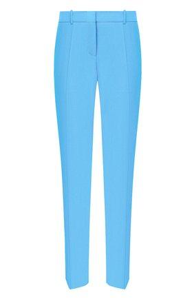 Женские шерстяные брюки BOSS бирюзового цвета, арт. 50423906 | Фото 1