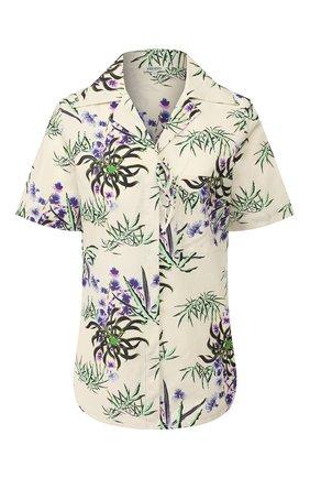 Женская рубашка из смеси хлопка и льна KENZO белого цвета, арт. FA52CH02458J | Фото 1