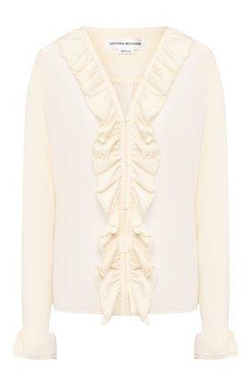 Женская шелковая блузка VICTORIA BECKHAM кремвого цвета, арт. 1220WSH001217B | Фото 1
