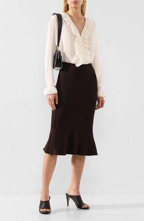 Женская шелковая блузка VICTORIA BECKHAM кремвого цвета, арт. 1220WSH001217B | Фото 2