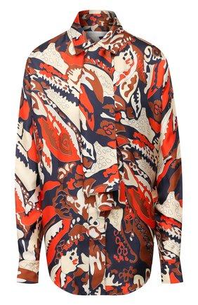 Женская шелковая рубашка VICTORIA BECKHAM разноцветного цвета, арт. 1120WSH000907B | Фото 1