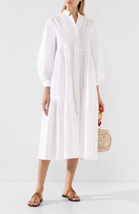 Женское хлопковое платье DOROTHEE SCHUMACHER белого цвета, арт. 748201/P0PLIN P0WER | Фото 2
