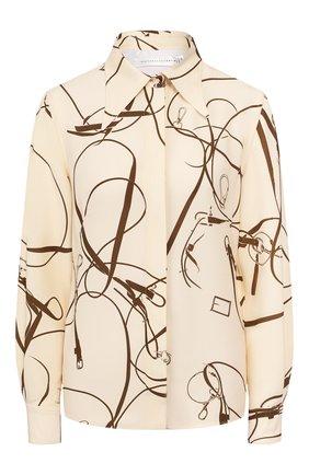 Женская рубашка VICTORIA BECKHAM кремвого цвета, арт. 1120WSH000712C | Фото 1