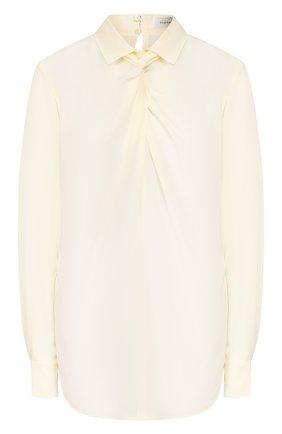 Женская шелковая рубашка VICTORIA BECKHAM кремвого цвета, арт. 1120WSH000600A | Фото 1