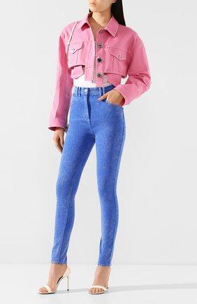 Женские джинсы BALMAIN голубого цвета, арт. TF05460/D035 | Фото 2