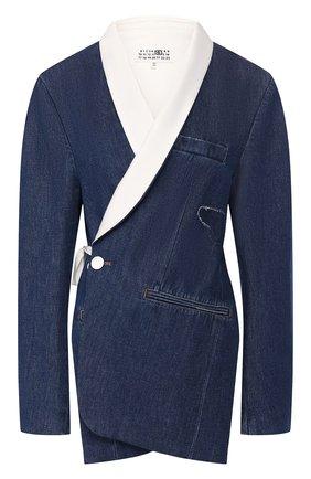 Женский джинсовый жакет MM6 синего цвета, арт. S62BN0031/S30460 | Фото 1