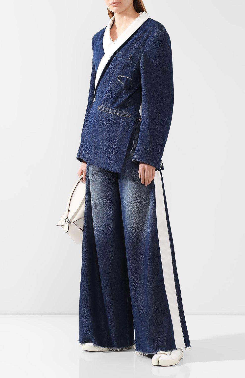 Женские джинсы MM6 синего цвета, арт. S62LB0041/S30460 | Фото 2