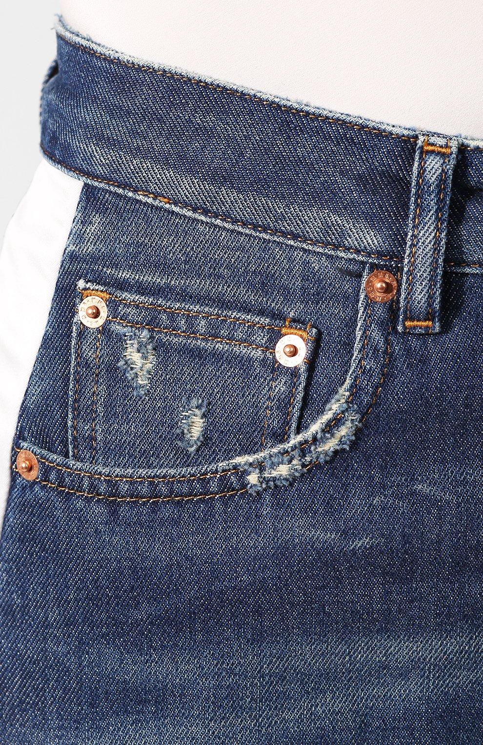 Женские джинсы MM6 синего цвета, арт. S62LB0041/S30460 | Фото 5