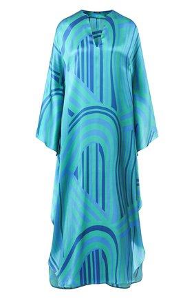 Женское шелковое платье KITON зеленого цвета, арт. D49342K09S92 | Фото 1