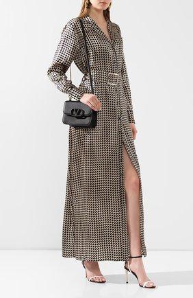 Женское шелковое платье KITON коричневого цвета, арт. D49346K09S75 | Фото 2
