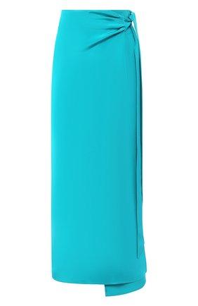 Женская шелковая юбка KITON зеленого цвета, арт. D49217K09S67   Фото 1