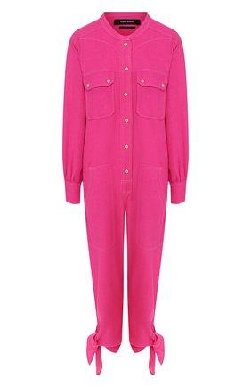 Женский шелковый комбинезон ISABEL MARANT розового цвета, арт. CB0276-20E020I/TACAIA | Фото 1