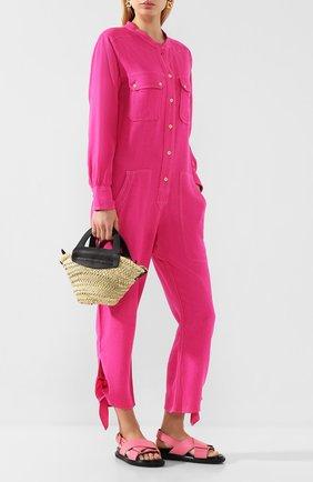 Женский шелковый комбинезон ISABEL MARANT розового цвета, арт. CB0276-20E020I/TACAIA | Фото 2