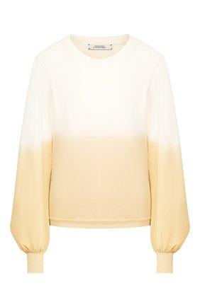 Женская хлопковый пуловер DOROTHEE SCHUMACHER бежевого цвета, арт. 723001/CASUAL REV0LUTI0N | Фото 1