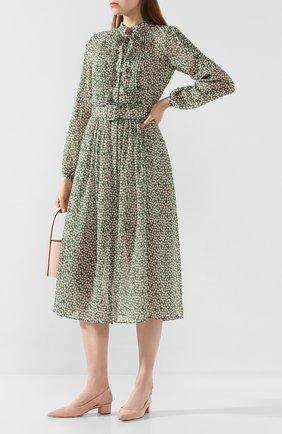Женское шелковое платье SALONI зеленого цвета, арт. 10197-1421 | Фото 2