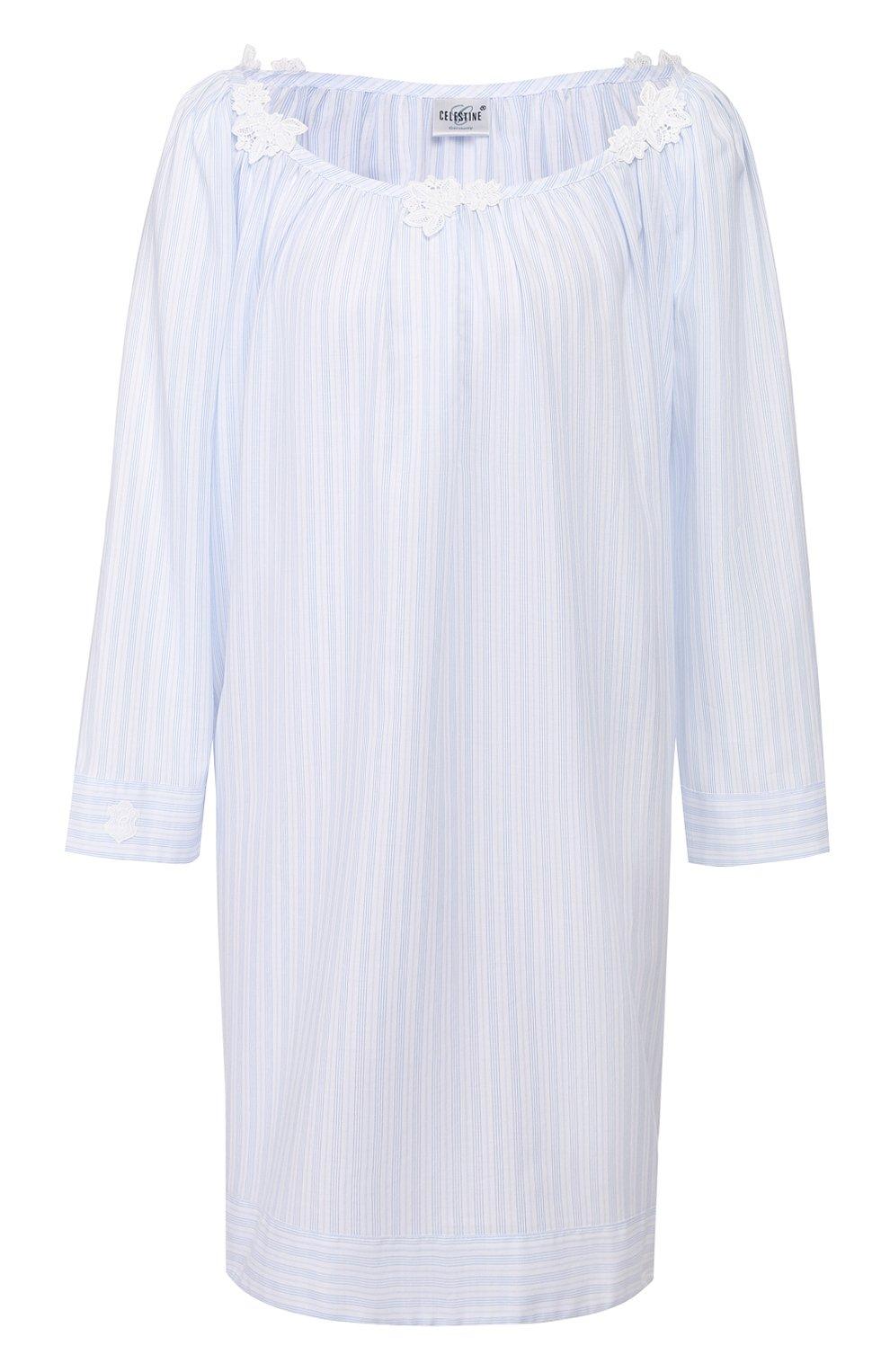 Женская хлопковая сорочка CELESTINE голубого цвета, арт. 20000729/LYNN-1 HEMD | Фото 1
