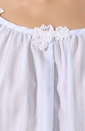 Женская хлопковая сорочка CELESTINE голубого цвета, арт. 20000729/LYNN-1 HEMD | Фото 5
