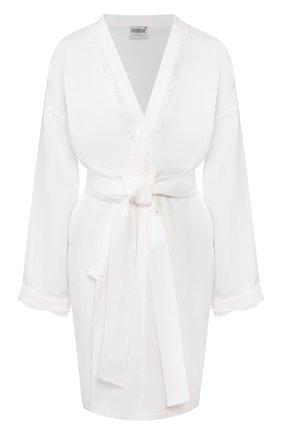 Женский хлопковый халат CELESTINE белого цвета, арт. 70000572/SARA HAUSMANTEL | Фото 1