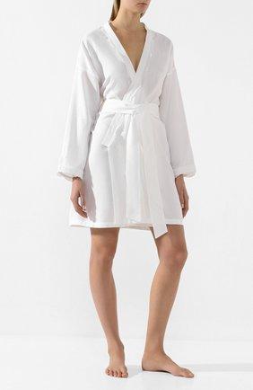 Женский хлопковый халат CELESTINE белого цвета, арт. 70000572/SARA HAUSMANTEL | Фото 2