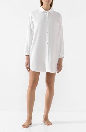 Женская хлопковая сорочка CELESTINE белого цвета, арт. 20000743/SARA-2 HEMD   Фото 2