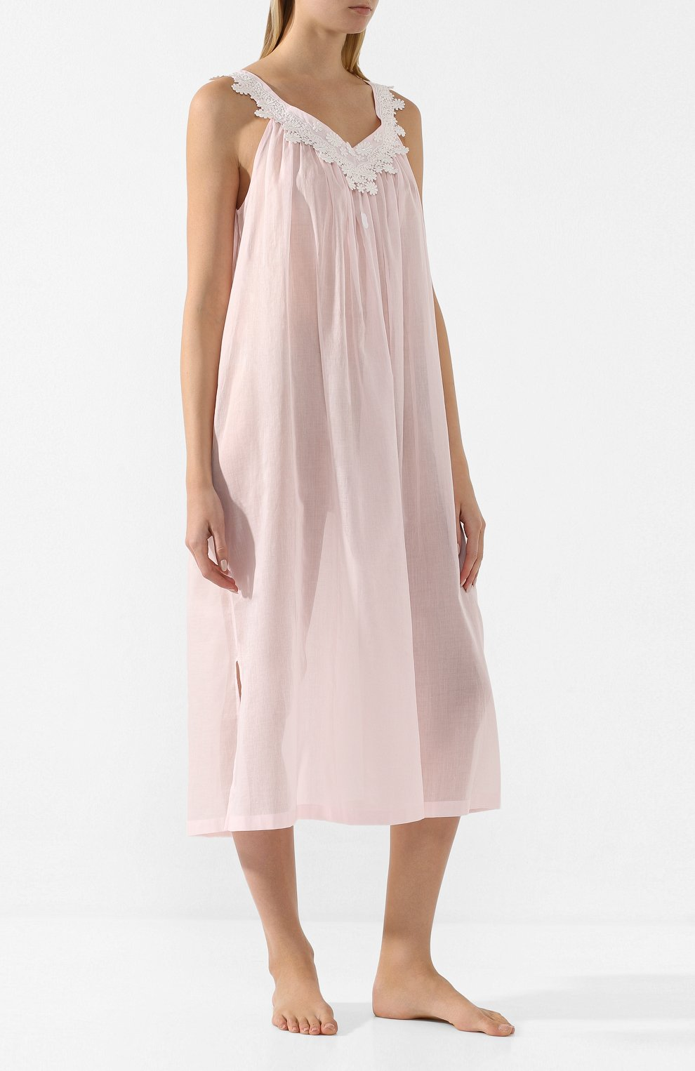 Женская хлопковая сорочка CELESTINE розового цвета, арт. 10002567/SCARLETT-1 NH | Фото 2