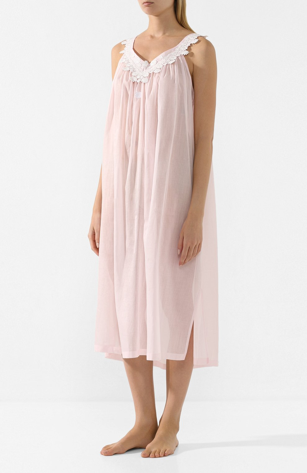 Женская хлопковая сорочка CELESTINE розового цвета, арт. 10002567/SCARLETT-1 NH | Фото 3