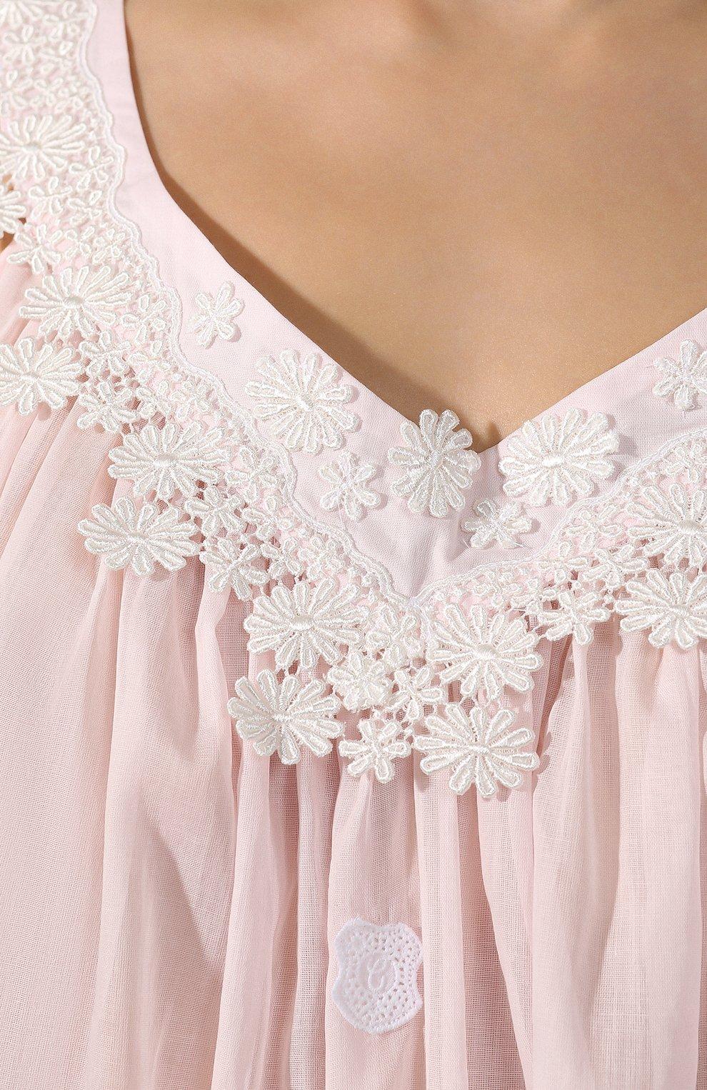 Женская хлопковая сорочка CELESTINE розового цвета, арт. 10002567/SCARLETT-1 NH | Фото 5