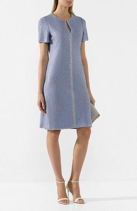 Женское платье ST. JOHN голубого цвета, арт. K12Z031 | Фото 2