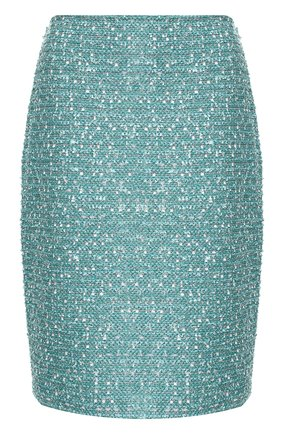 Женская юбка ST. JOHN бирюзового цвета, арт. K72Z051 | Фото 1