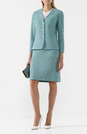Женская юбка ST. JOHN бирюзового цвета, арт. K72Z051 | Фото 2